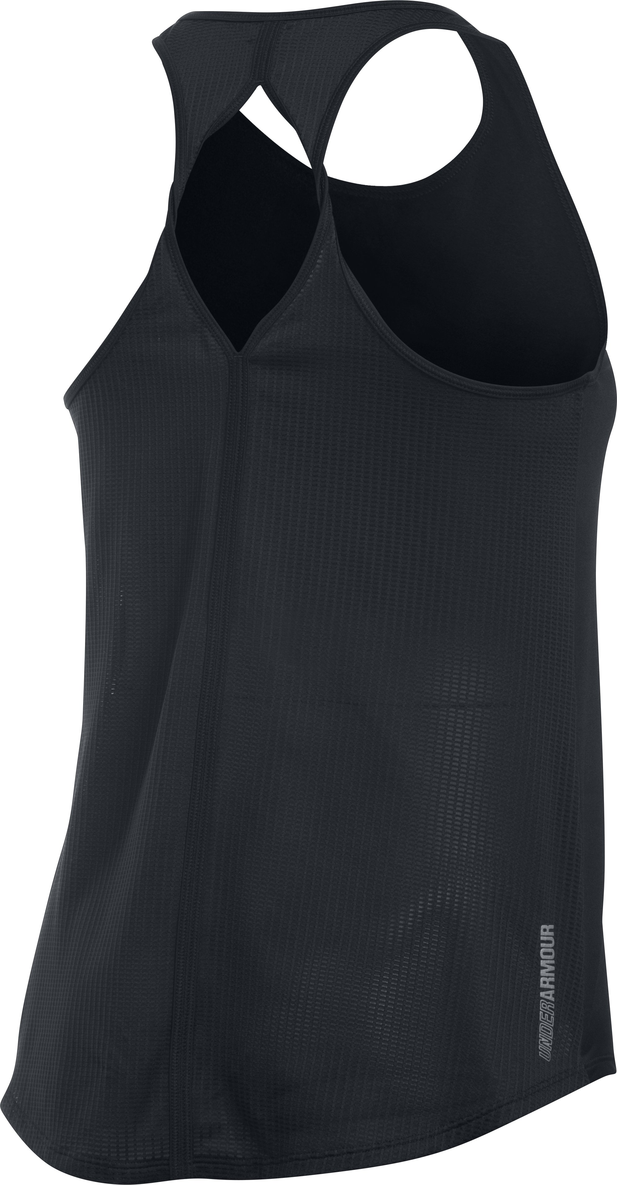 Women's UA Fly-By 2.0 Solid Tank, Black , undefined