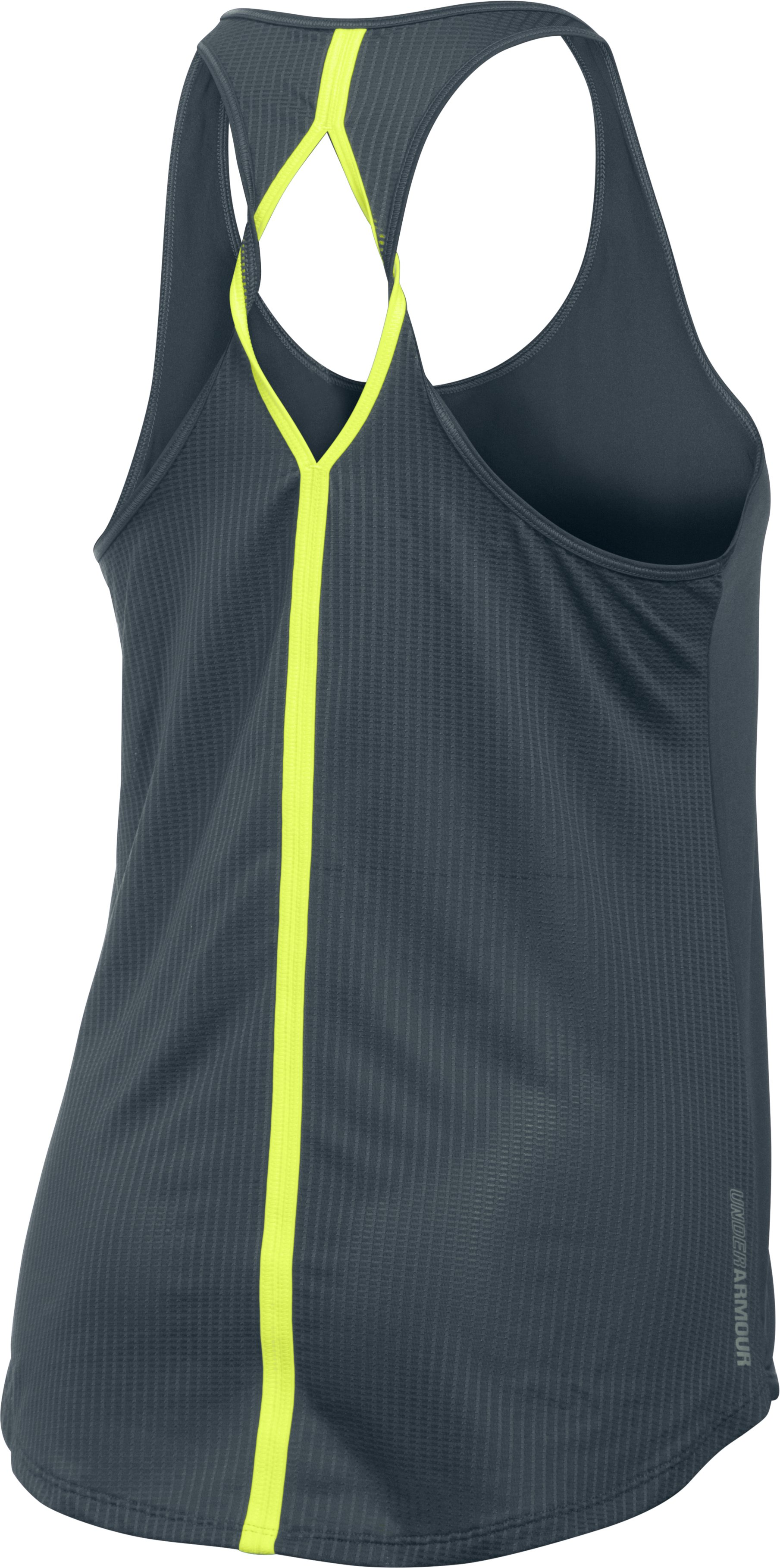 Women's UA Fly-By 2.0 Solid Tank, STEALTH GRAY,