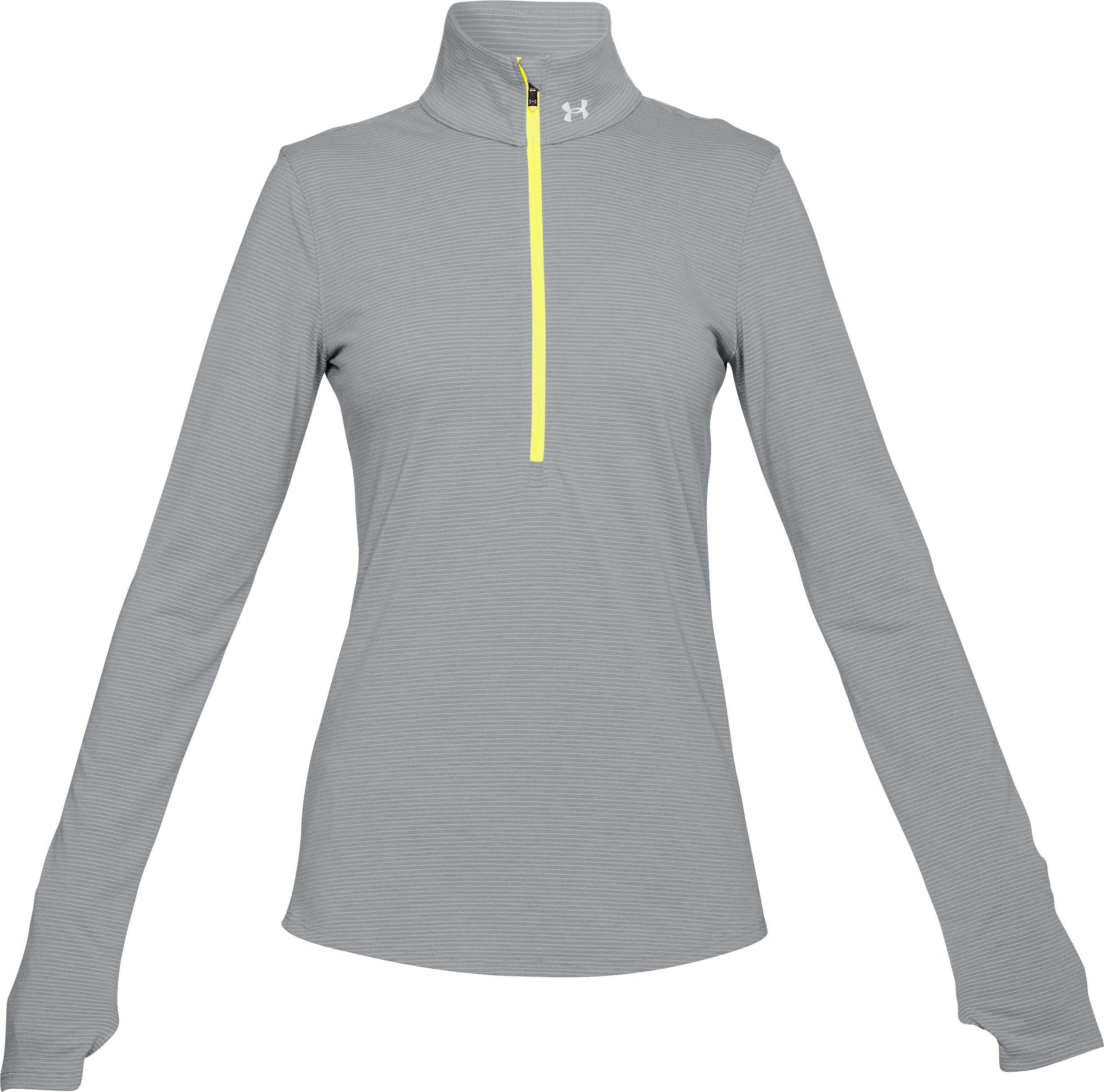 Women's UA Streaker 1/2 Zip, STEEL LIGHT HEATHER,