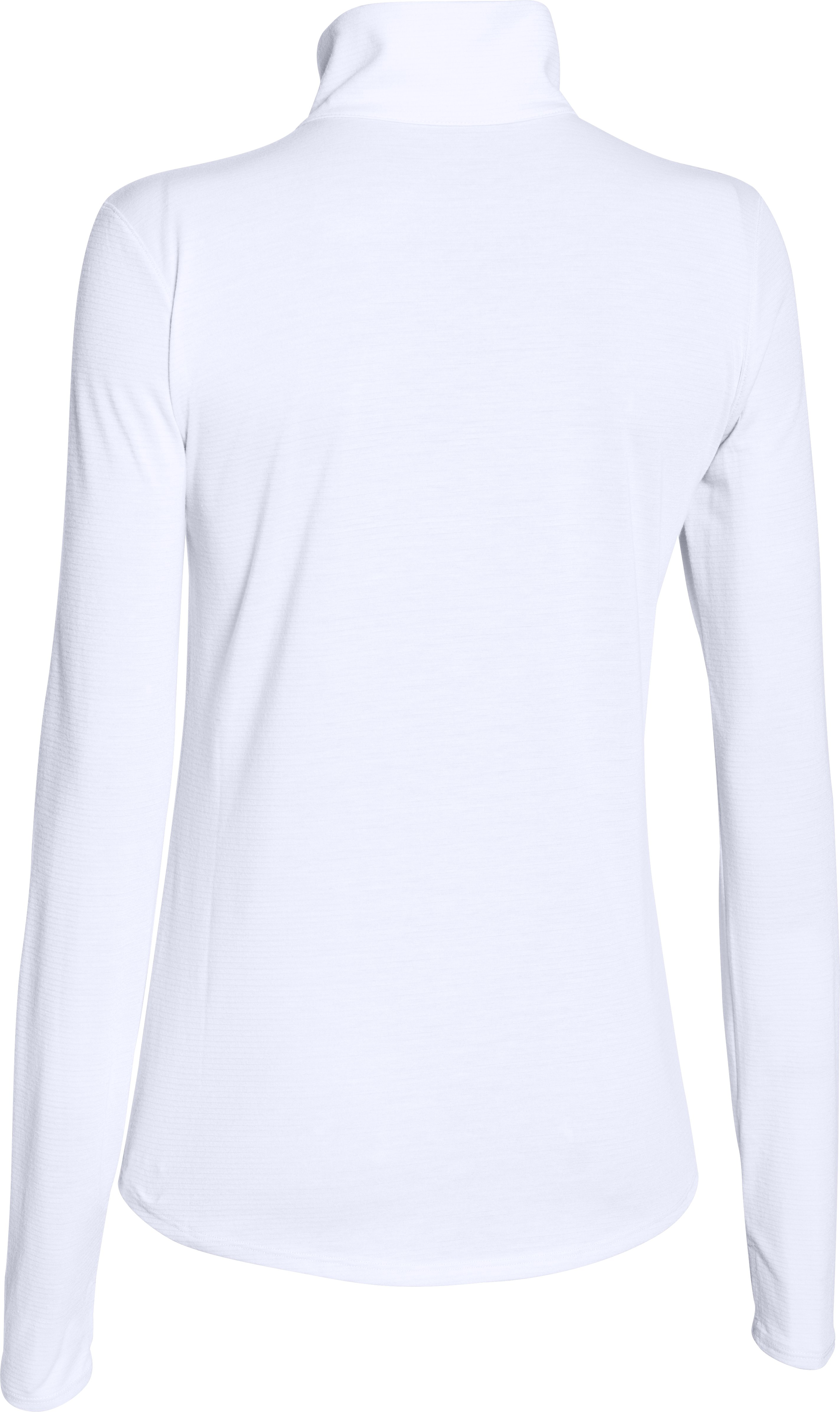 Women's UA Streaker 1/2 Zip, White,