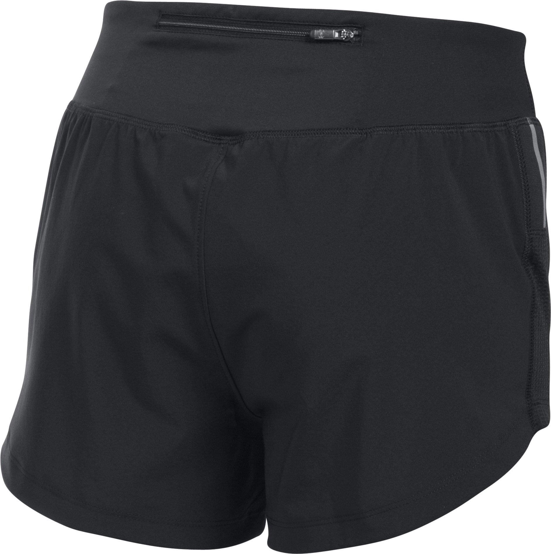 Women's UA Stretch Woven Shorts, Black ,