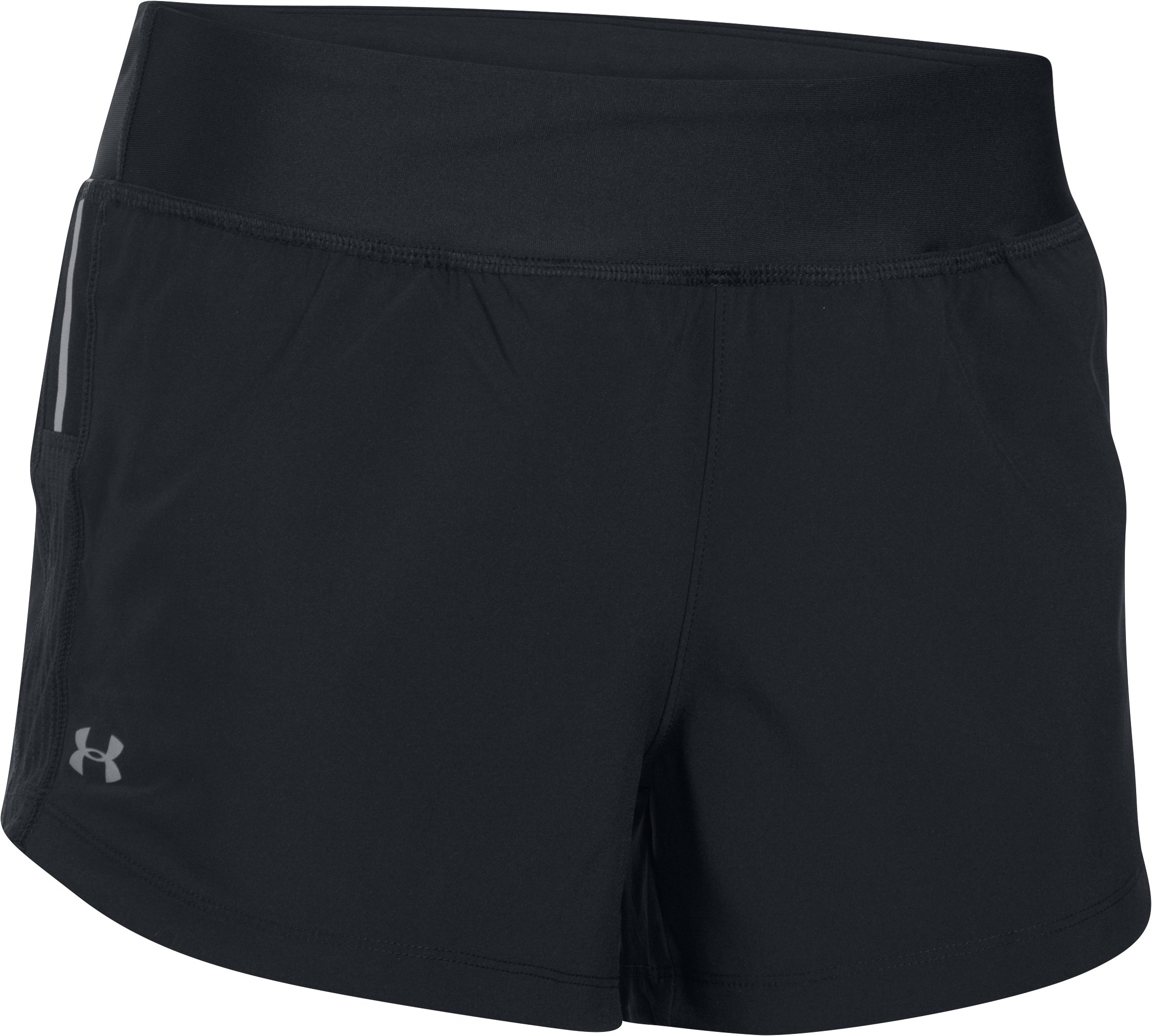 Women's UA Stretch Woven Shorts, Black , undefined