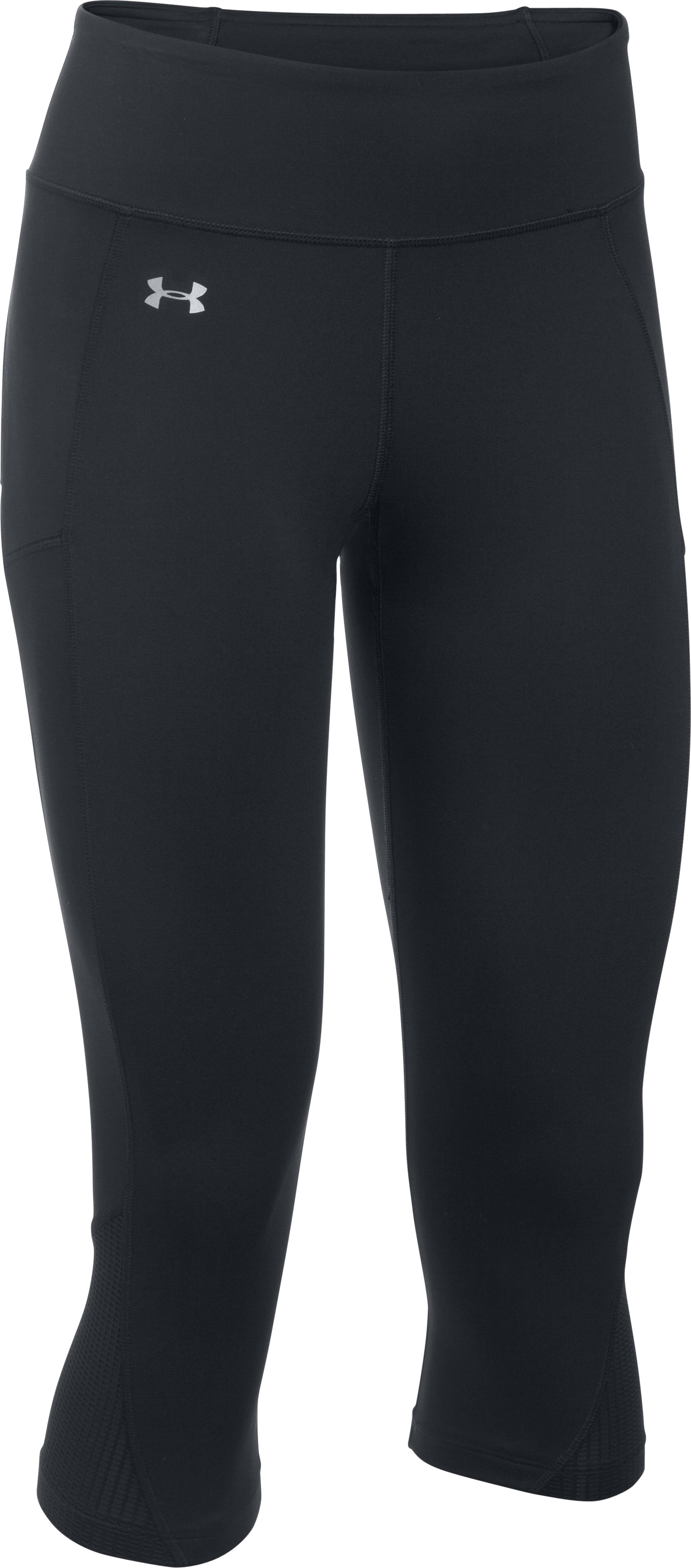 Women's UA Fly-By Run Capris, Black , undefined