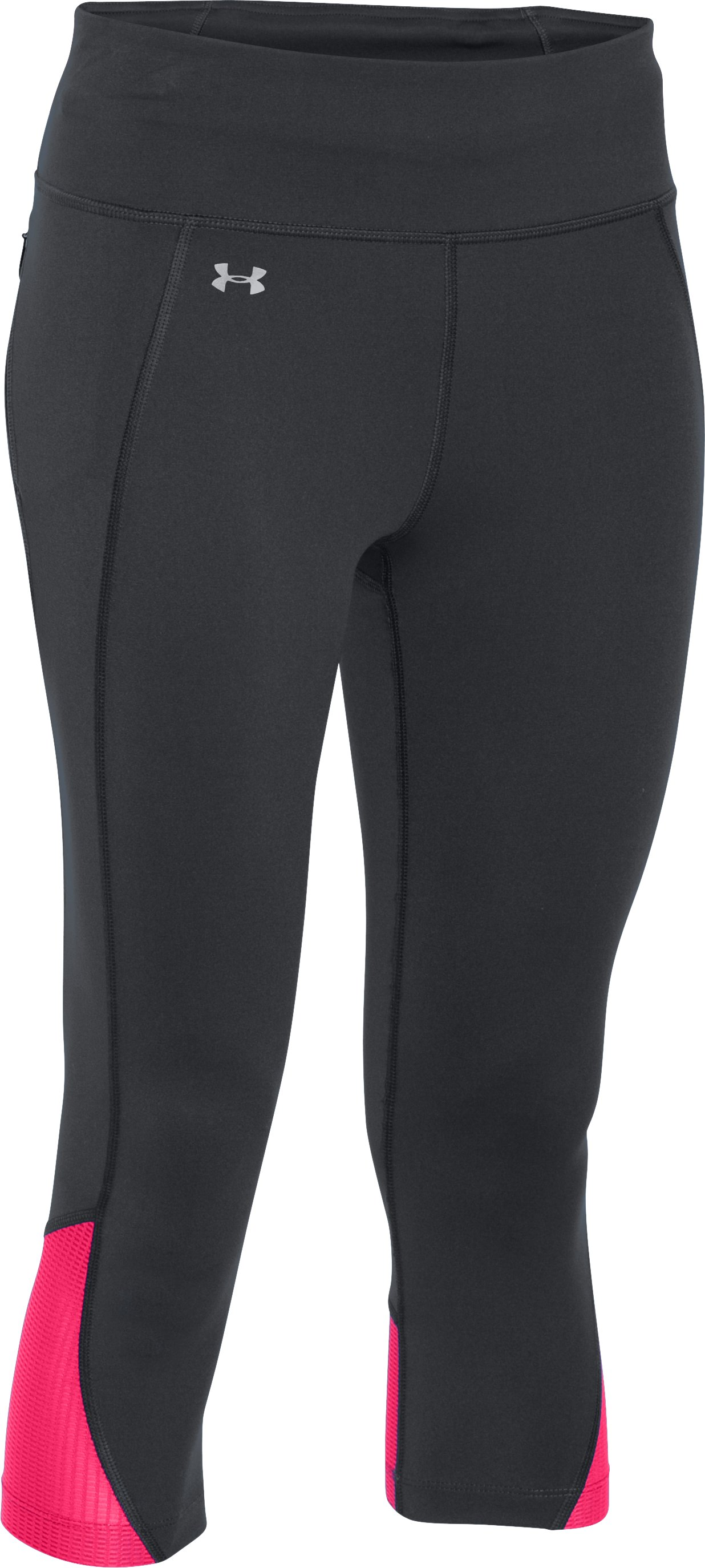 Women's UA Fly-By Run Capris, Black ,