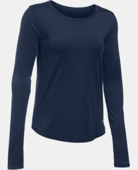 Women's UA Fly-By Solid Long Sleeve   $39.99