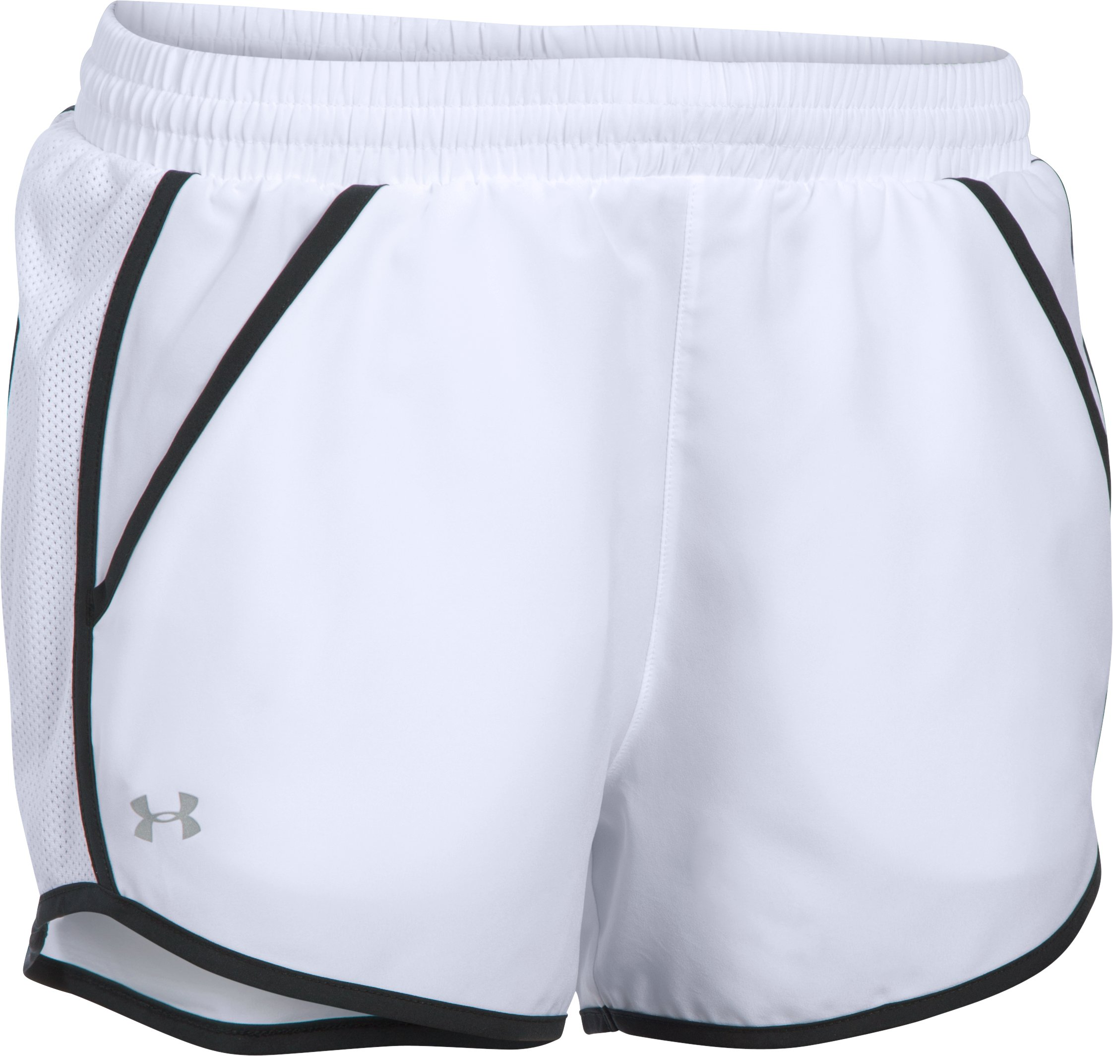 Women's UA Fly-By Run Shorts, White, undefined