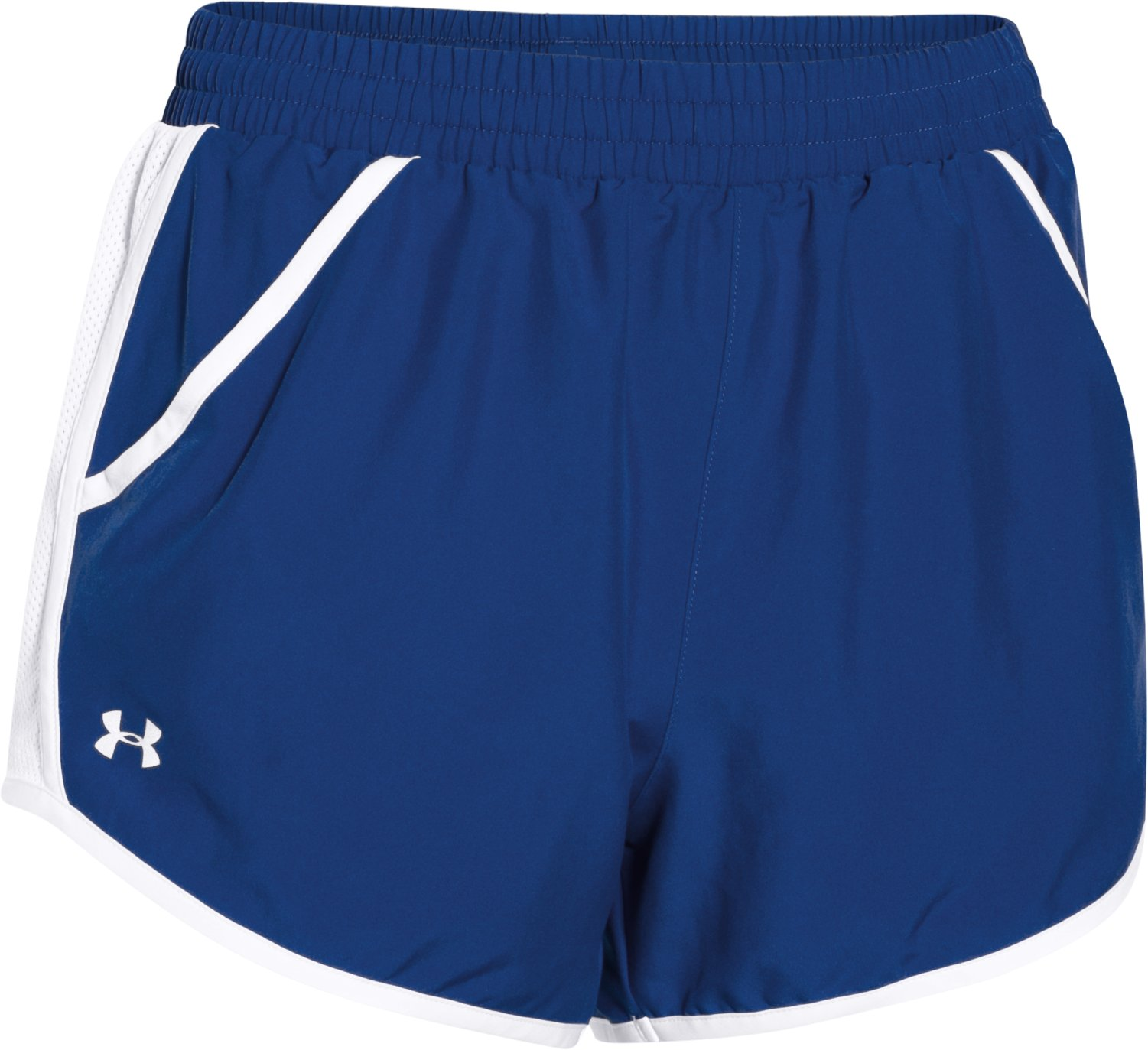 Women's UA Fly-By Run Shorts, Royal, undefined