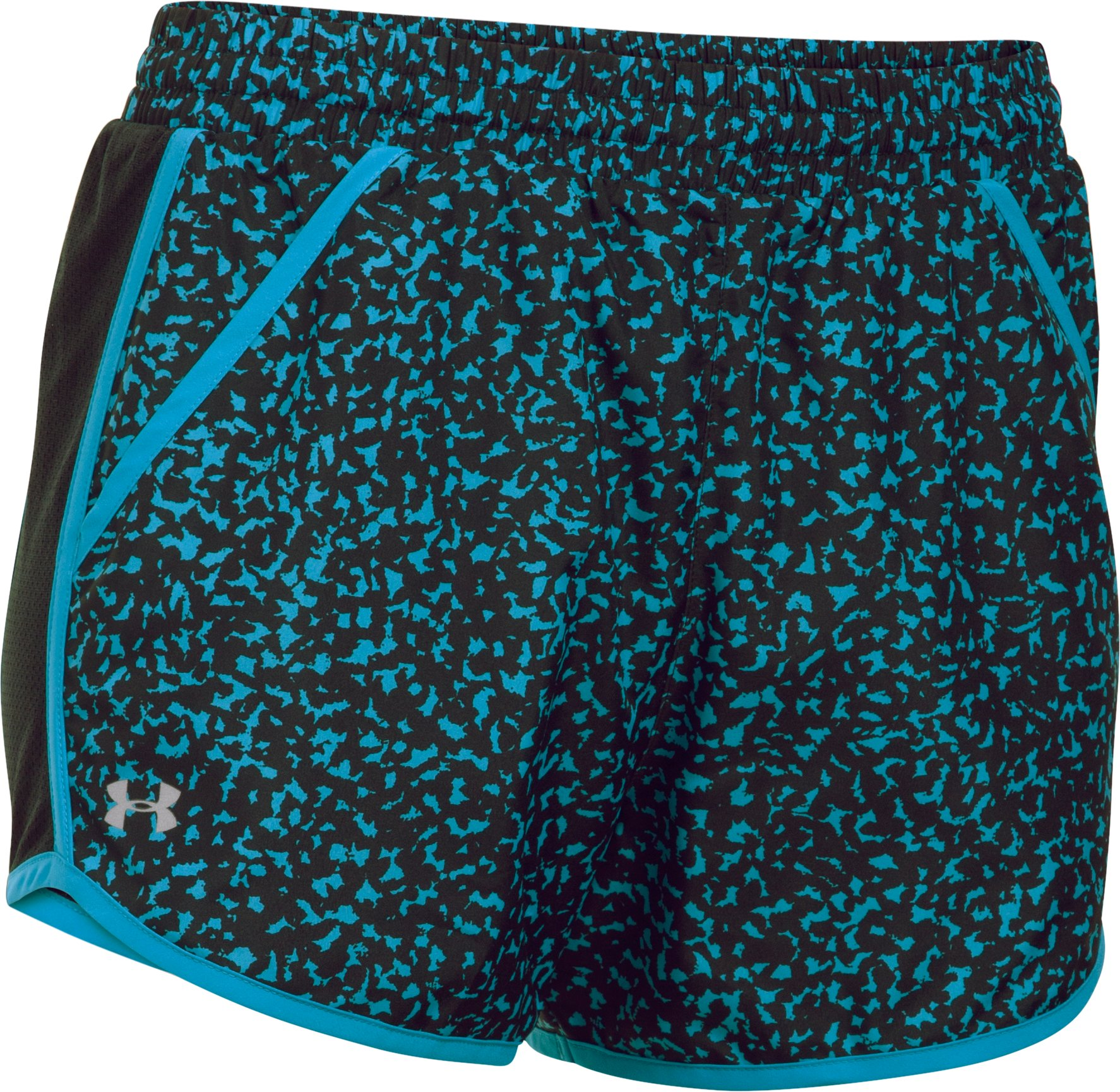 Women's UA Fly-By Printed Run Shorts, Black