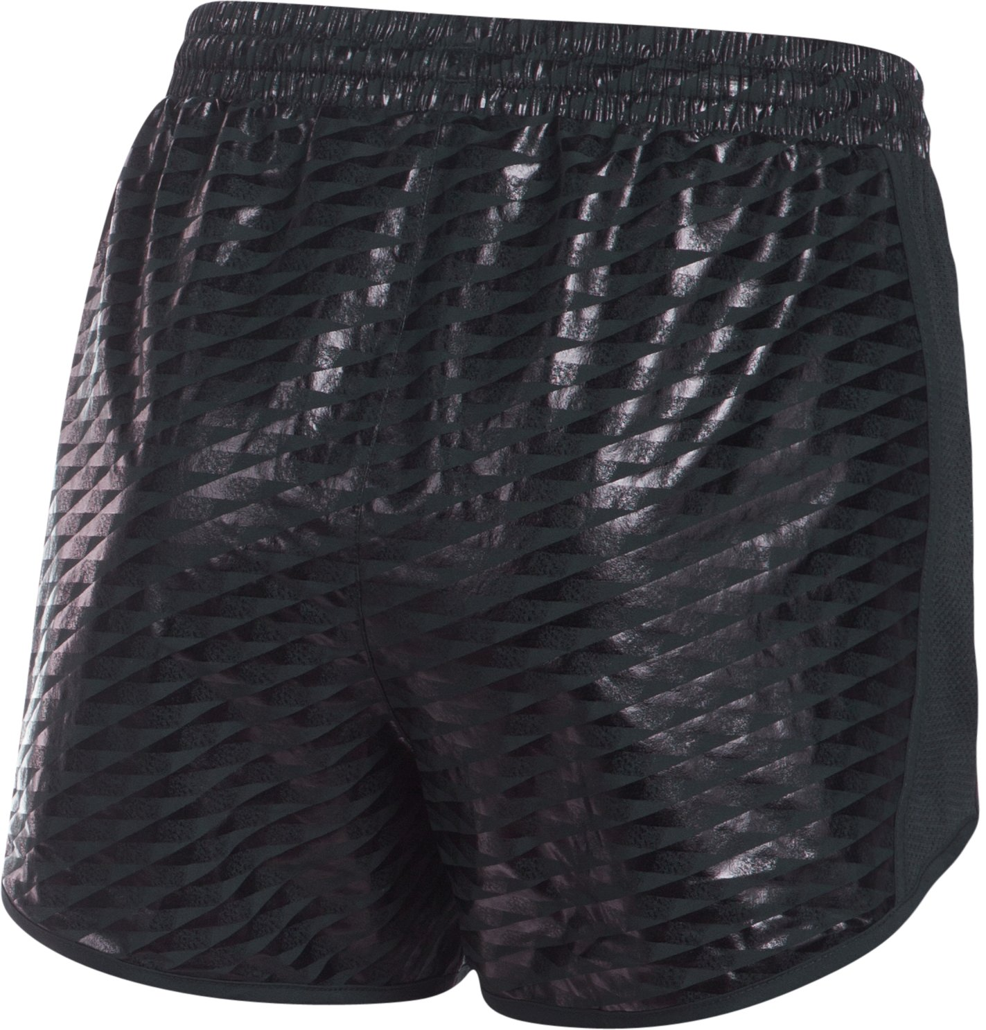 Women's UA Fly-By Printed Run Short, Black