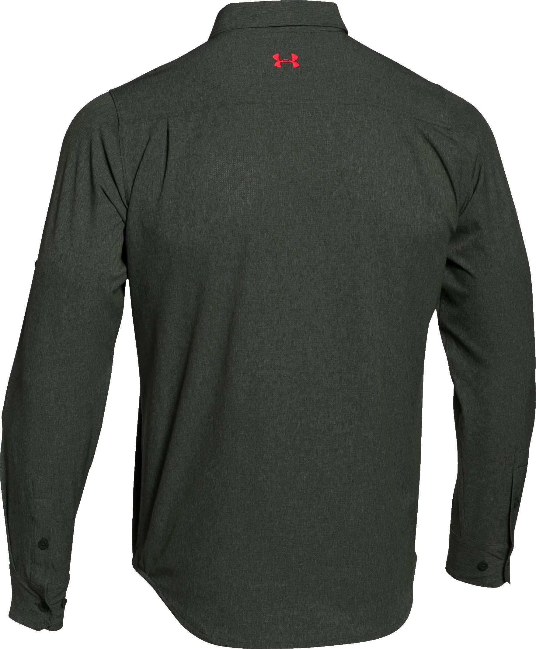 Men's UA ArmourVent™ Long Sleeve Shirt, COMBAT GREEN,