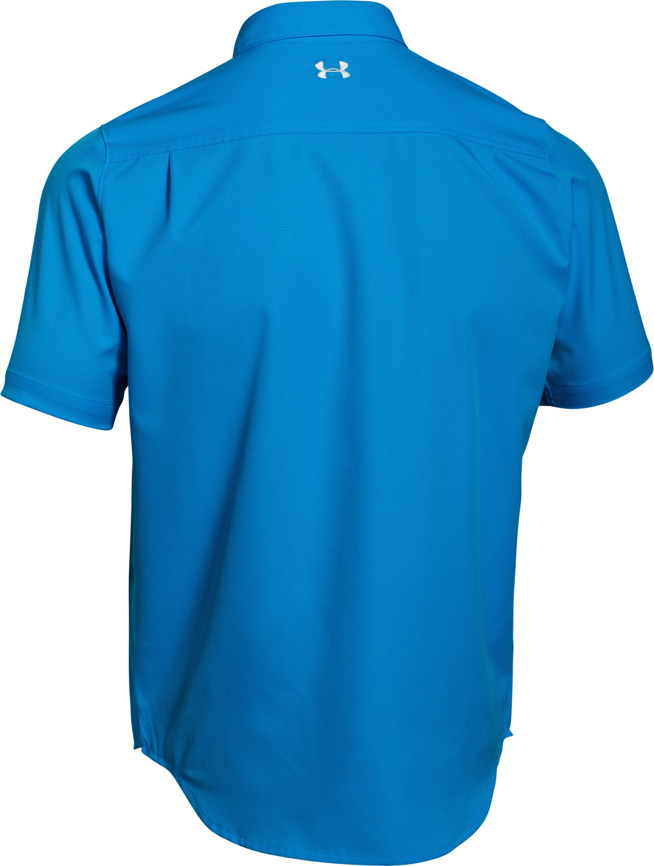 Men's UA ArmourVent™ Short Sleeve Shirt, ELECTRIC BLUE