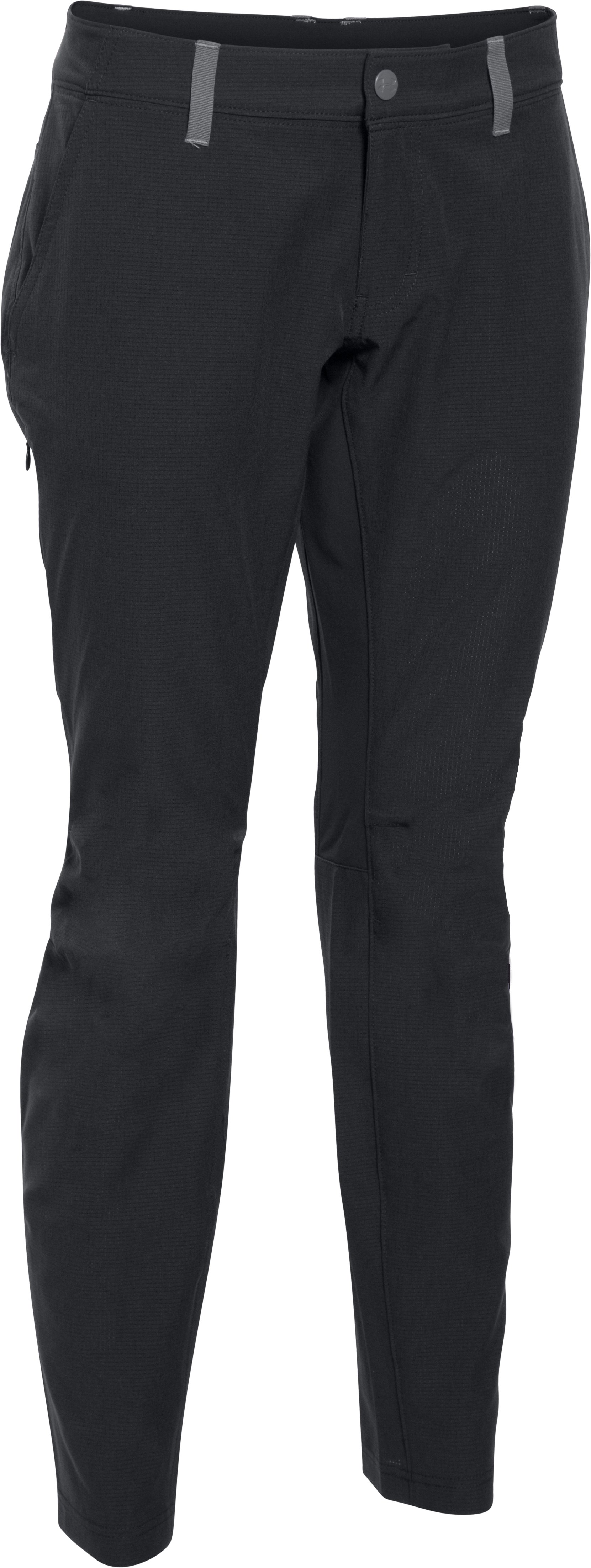 Women's UA ArmourVent™ Trail Pant, Black , undefined