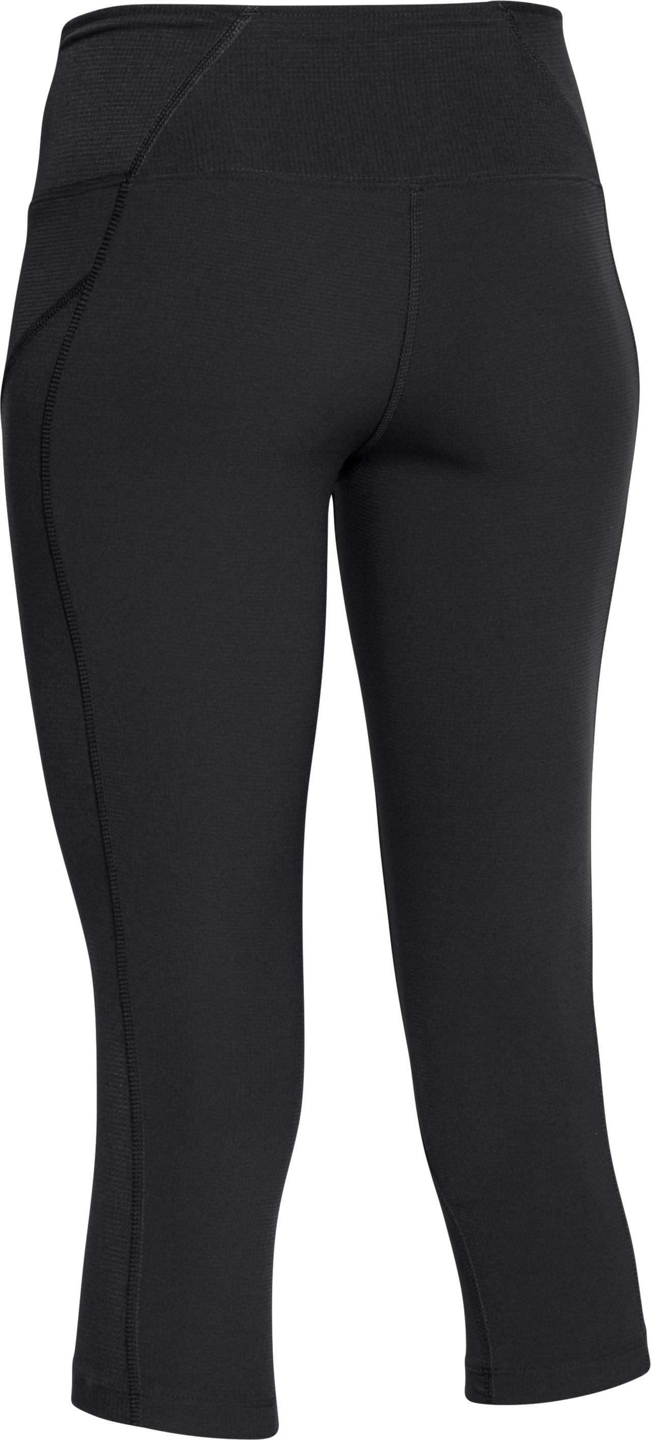 Women's UA ArmourVent™ Trail Capri, Black ,