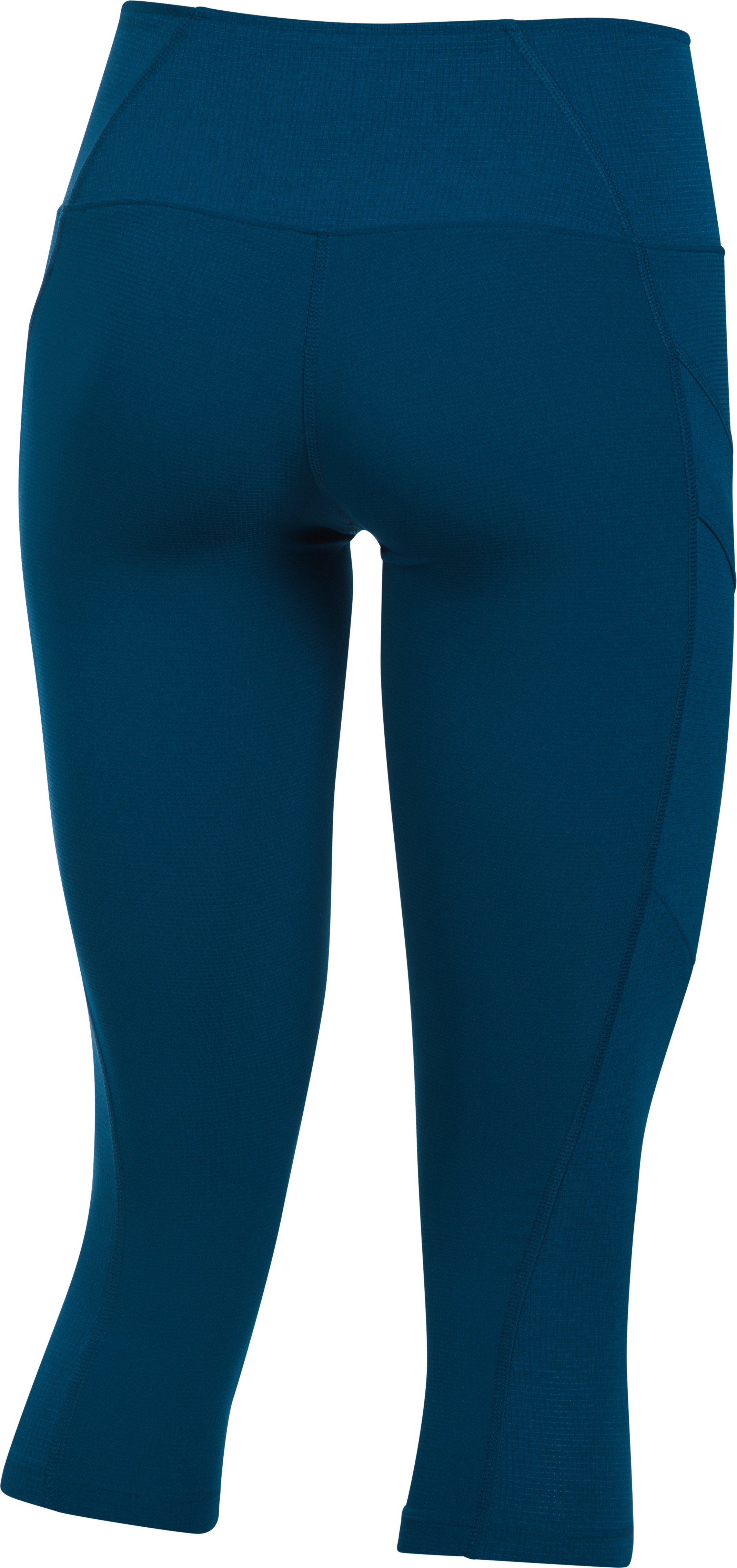 Women's UA ArmourVent™ Trail Capri, BLACKOUT NAVY, undefined