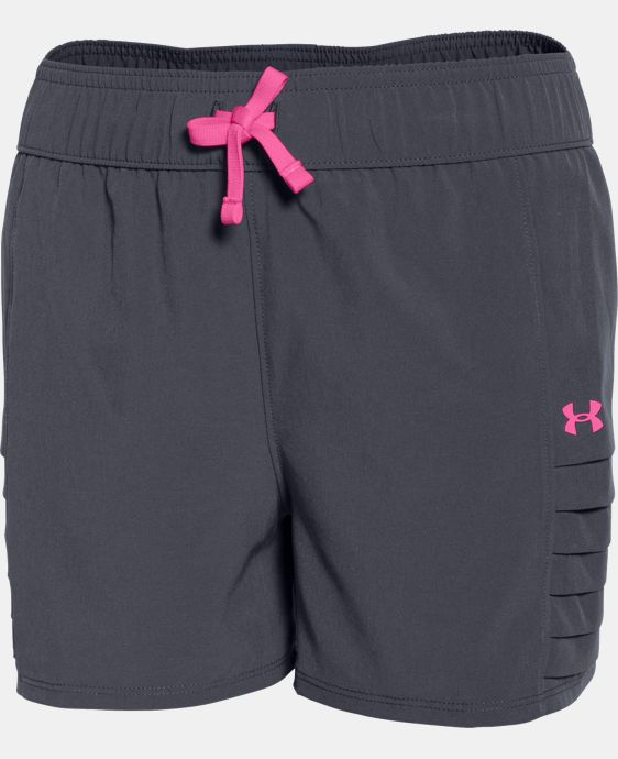 New Arrival  Girls' UA Woven Short LIMITED TIME: FREE SHIPPING 1 Color $22.99