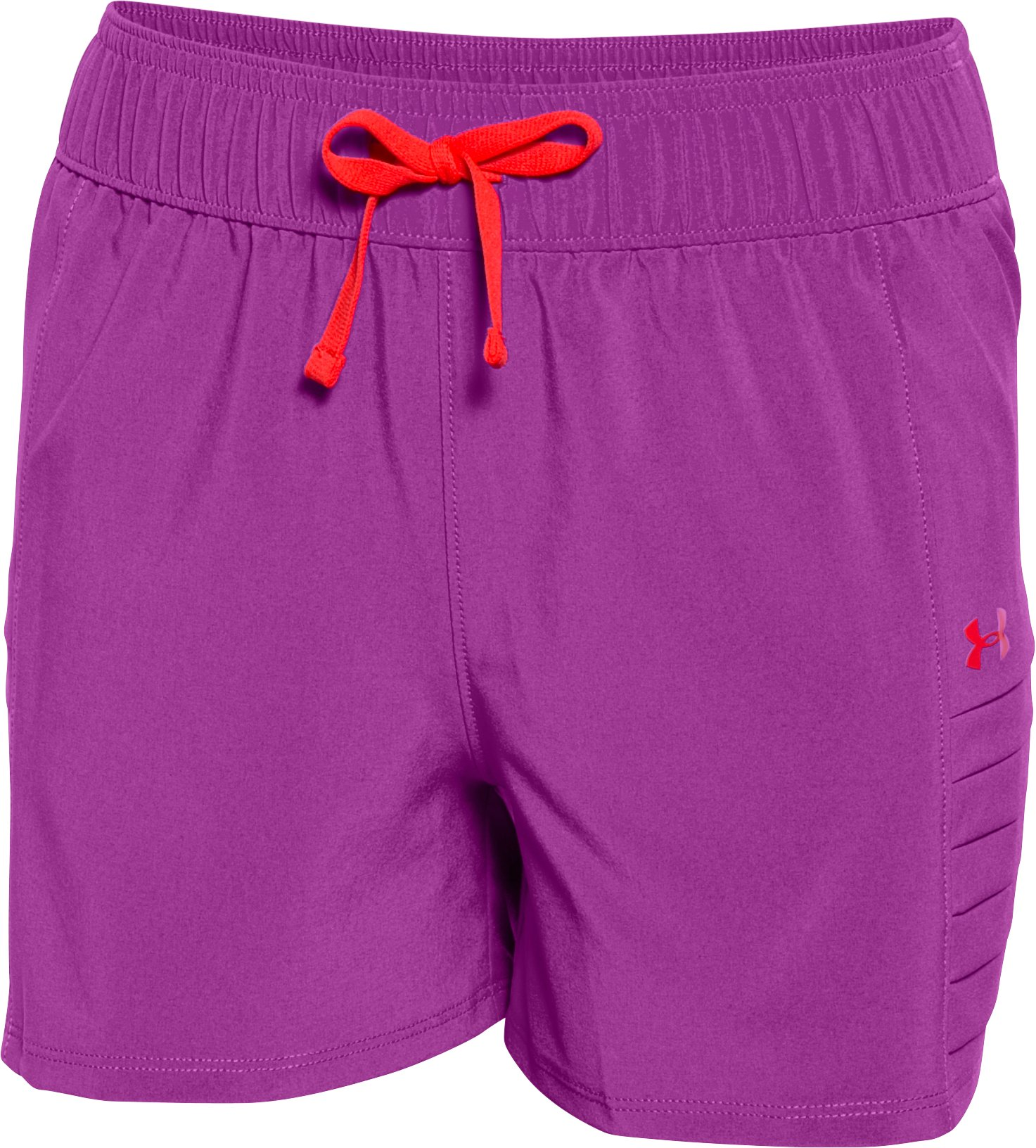 Girls' UA Woven Short, STROBE, zoomed image