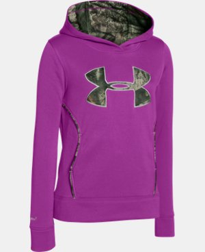 Girls' UA Caliber Hoodie LIMITED TIME: FREE U.S. SHIPPING 1 Color $32.99 to $41.99