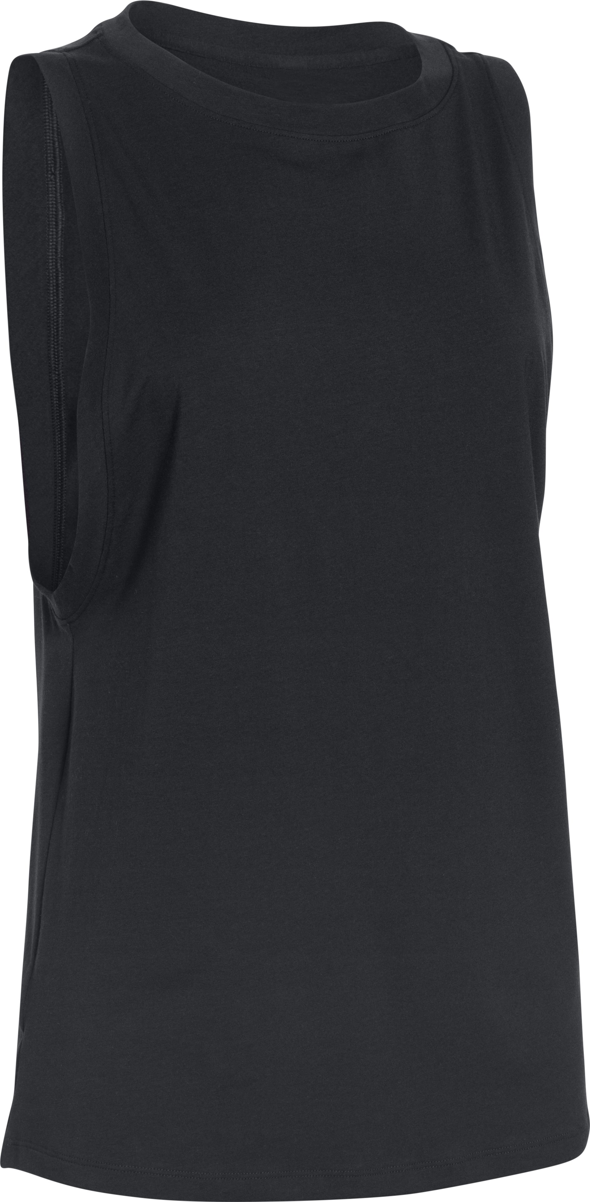 Women's UA Studio Muscle Tank, Black