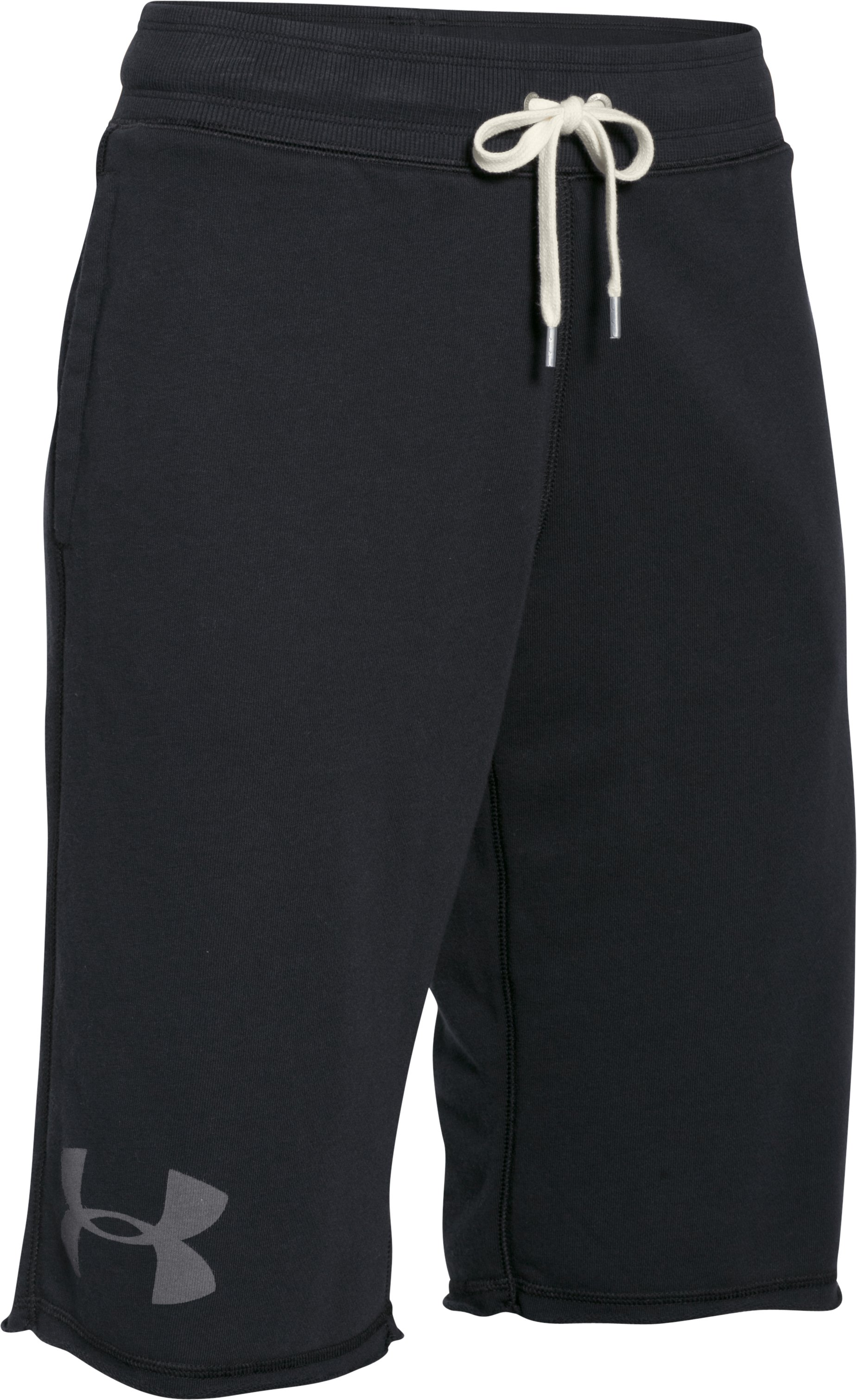 Women's UA Favorite French Terry Boy Short, Black , undefined