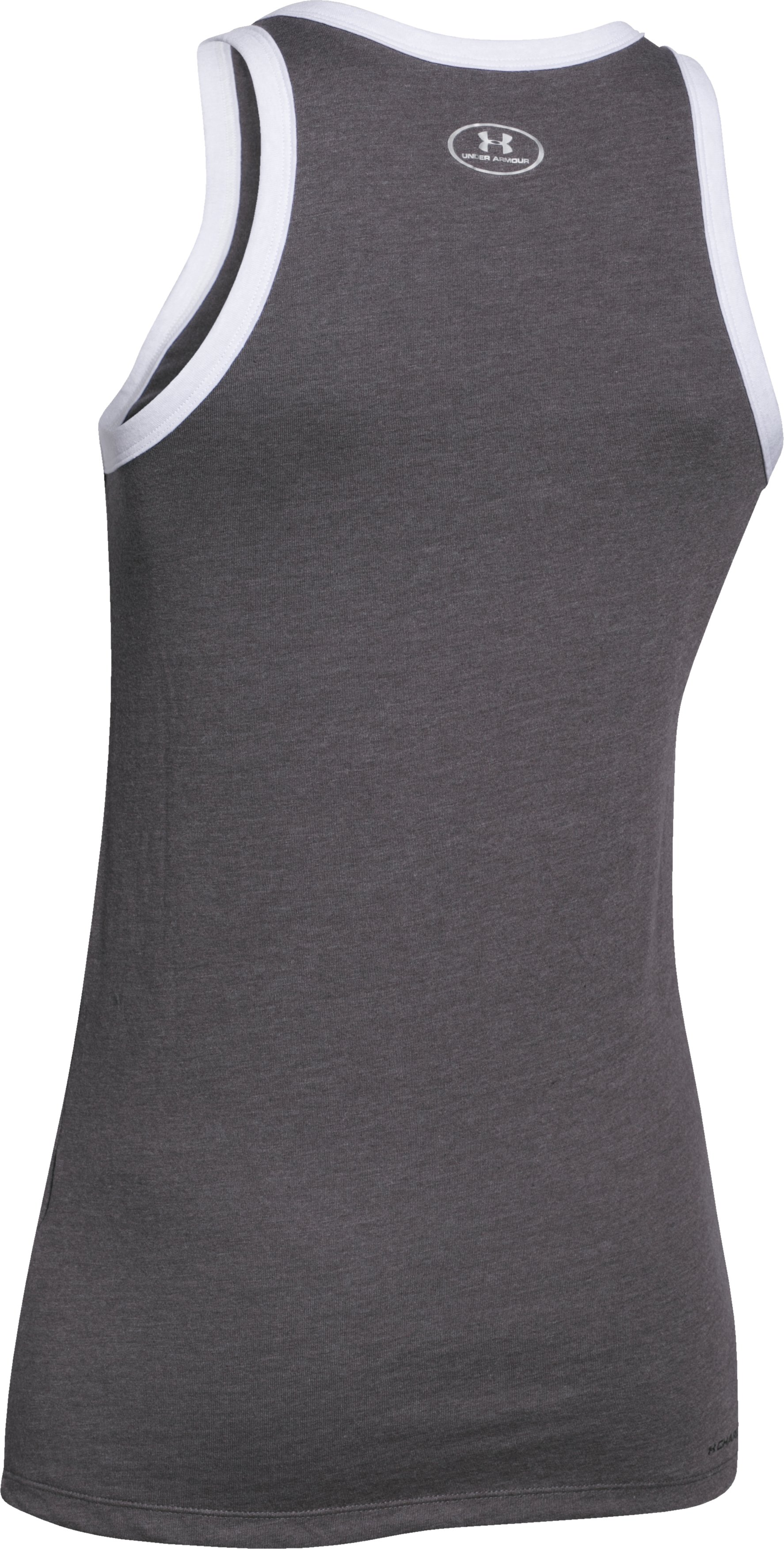 Women's UA Favorite Graphic UNDER ARMOUR Tank, Carbon Heather,