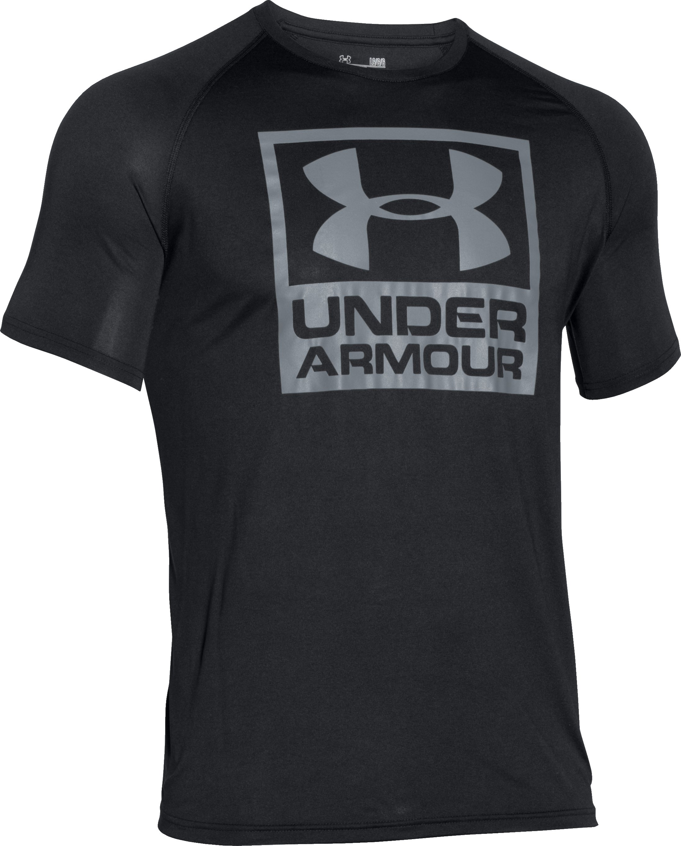 Men's UA Tech™ Boxed Logo T-Shirt, Black , undefined