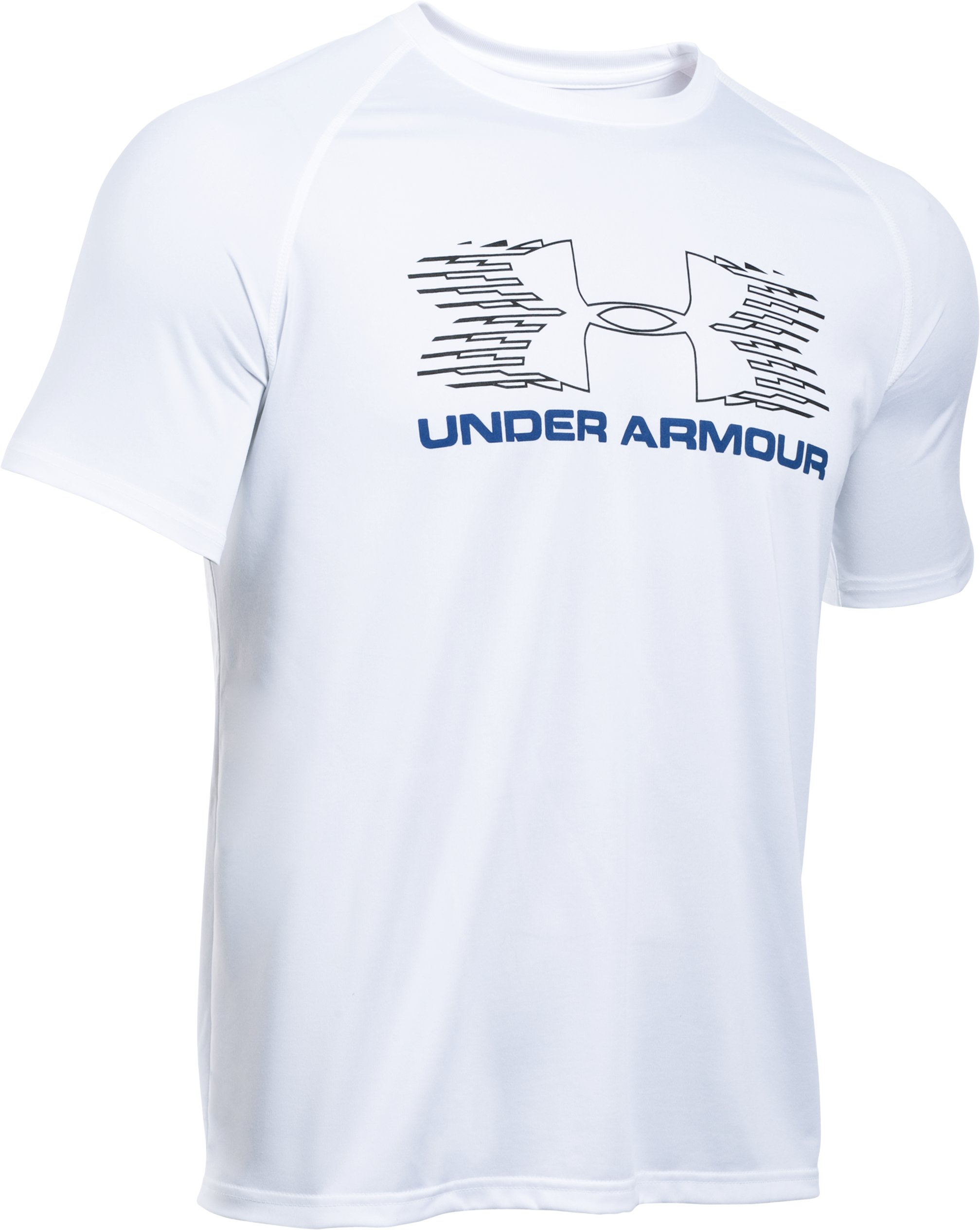 Men's UA Tech™ Sportstyle T-Shirt, White, zoomed image