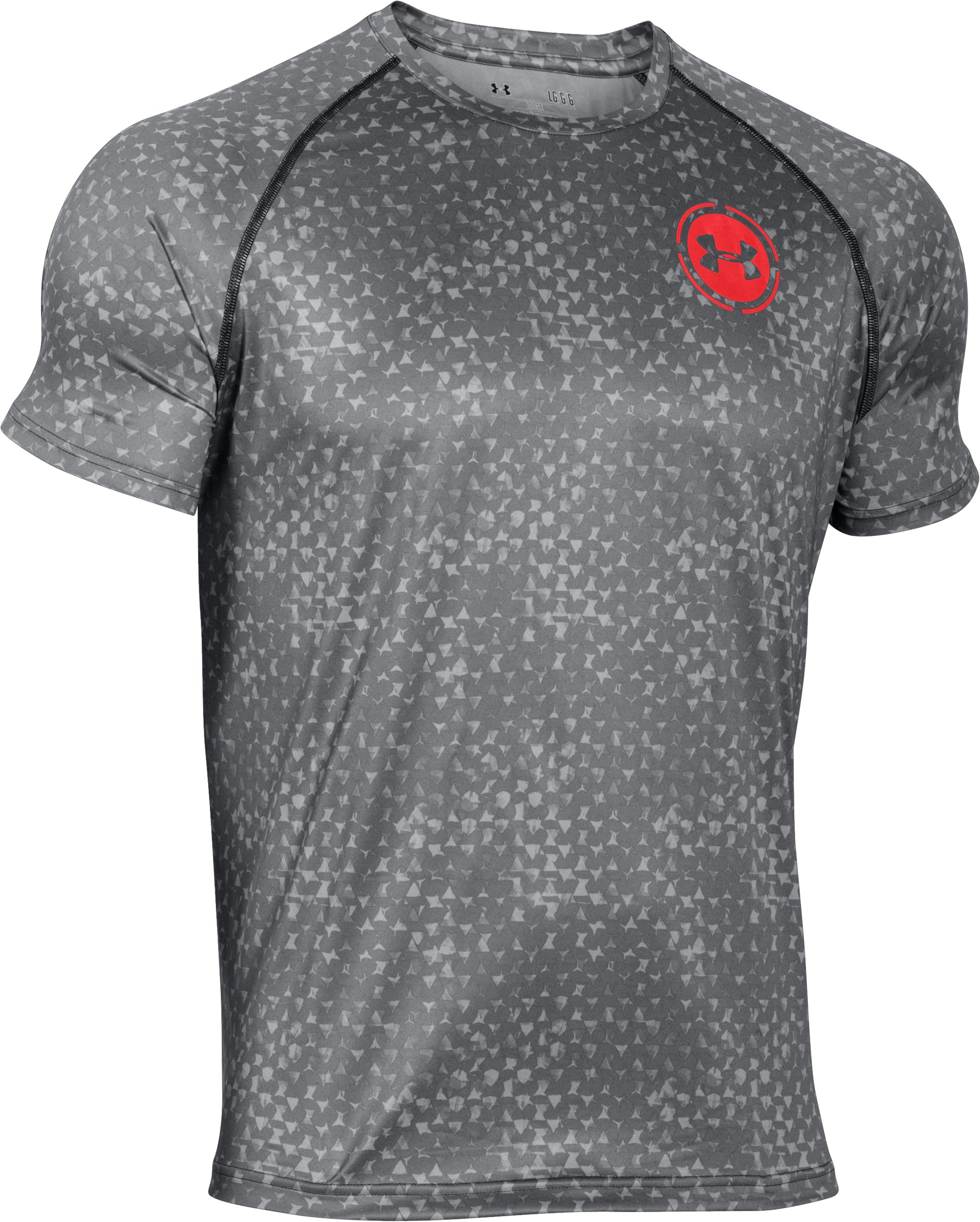 Men's UA Scope Printed T-Shirt, STEALTH GRAY