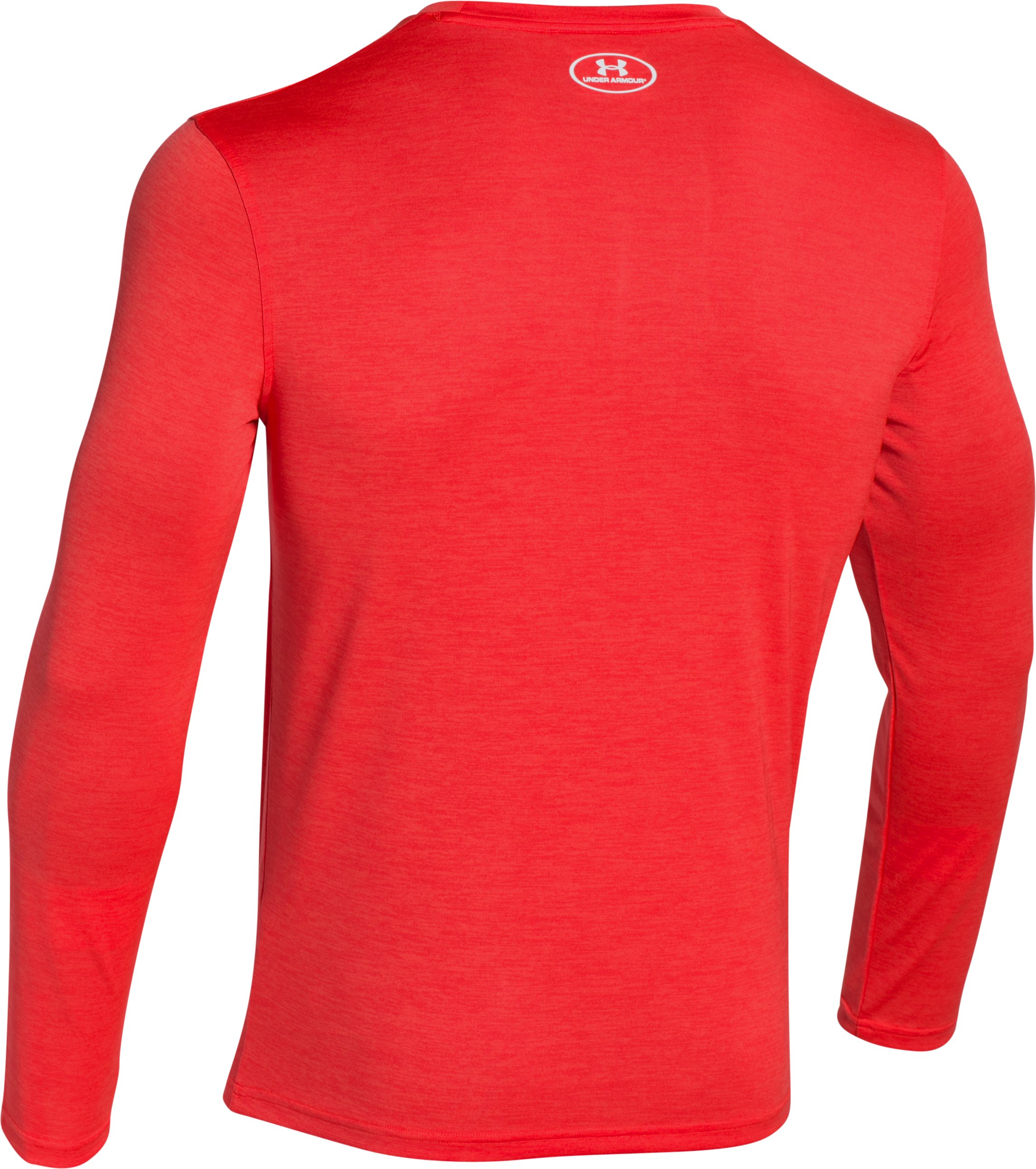 Men's UA Tech™ Sportstyle Long Sleeve T-Shirt, ROCKET RED