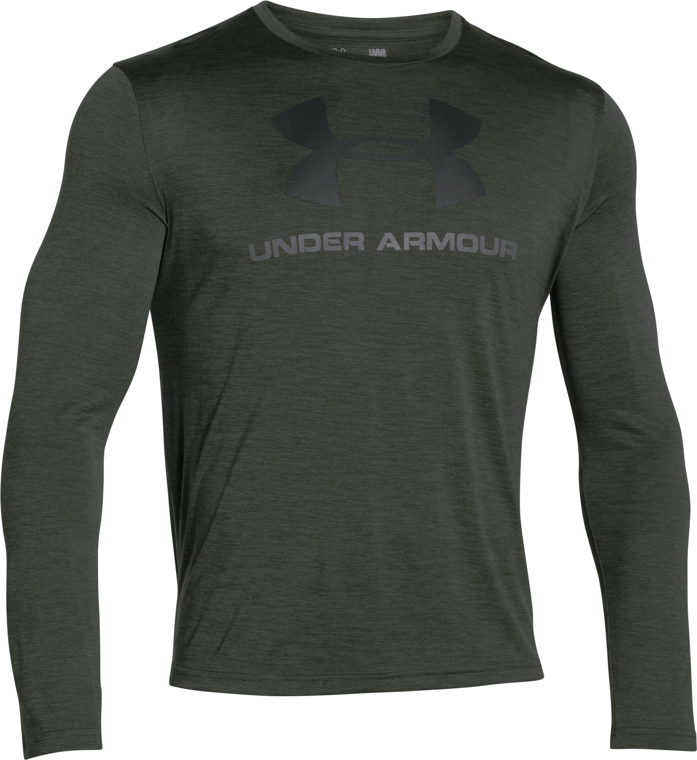 Men's UA Tech™ Sportstyle Long Sleeve T-Shirt, COMBAT GREEN, undefined