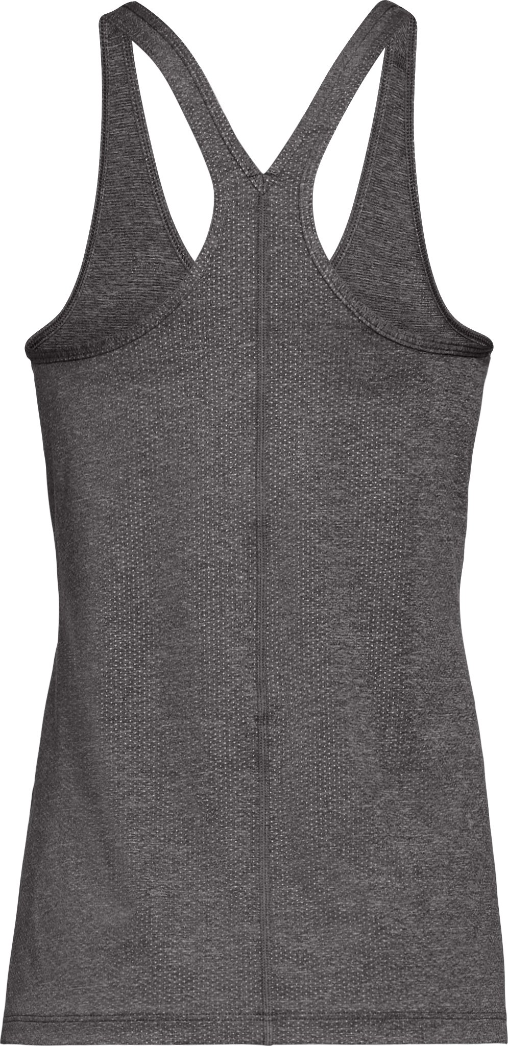Women's UA HeatGear® Armour Racer Tank, CHARCOAL LIGHT HEATHER, undefined