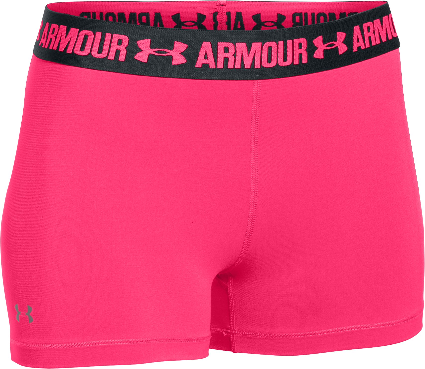 "Women's UA HeatGear® Armour 3"" Shorty, HARMONY RED,"