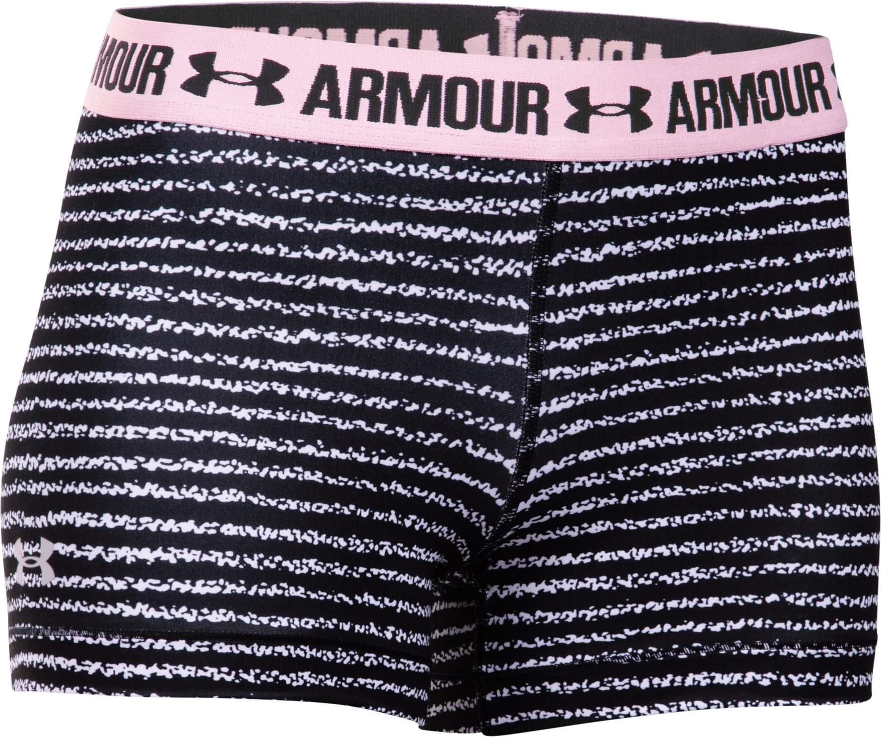 "Women's UA HeatGear® Armour Printed 3"" Shorty, Black , undefined"