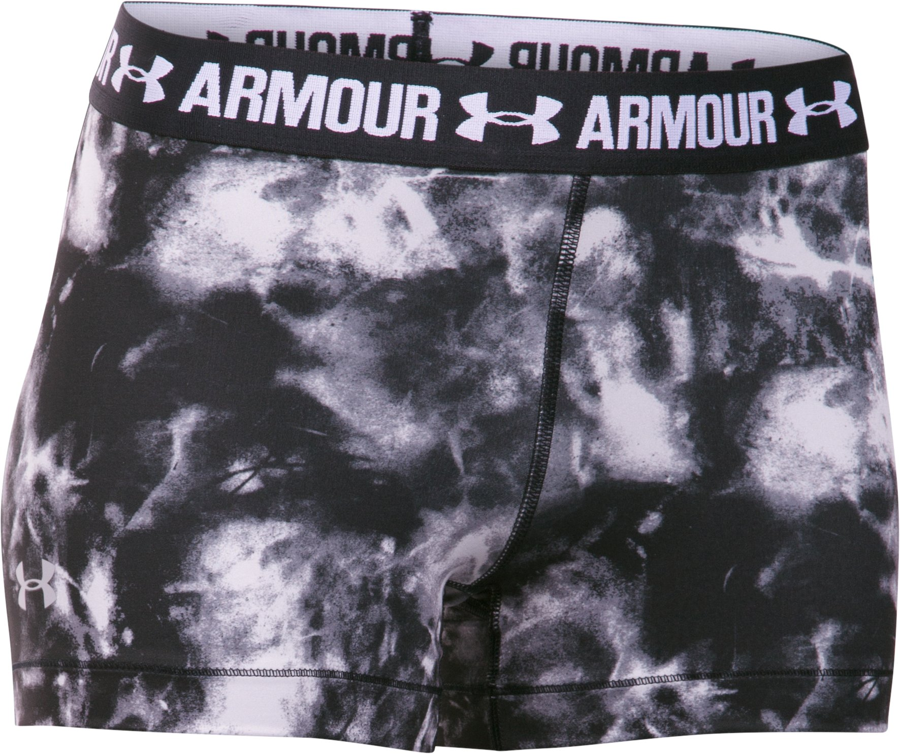 "Women's UA HeatGear® Armour Printed 3"" Shorty, Black"
