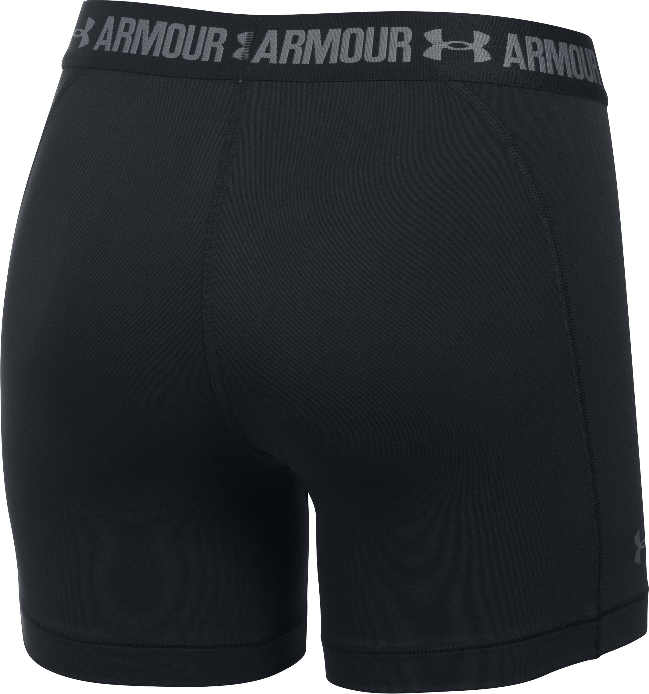 "Women's UA HeatGear® Armour 5"" Mid, Black ,"