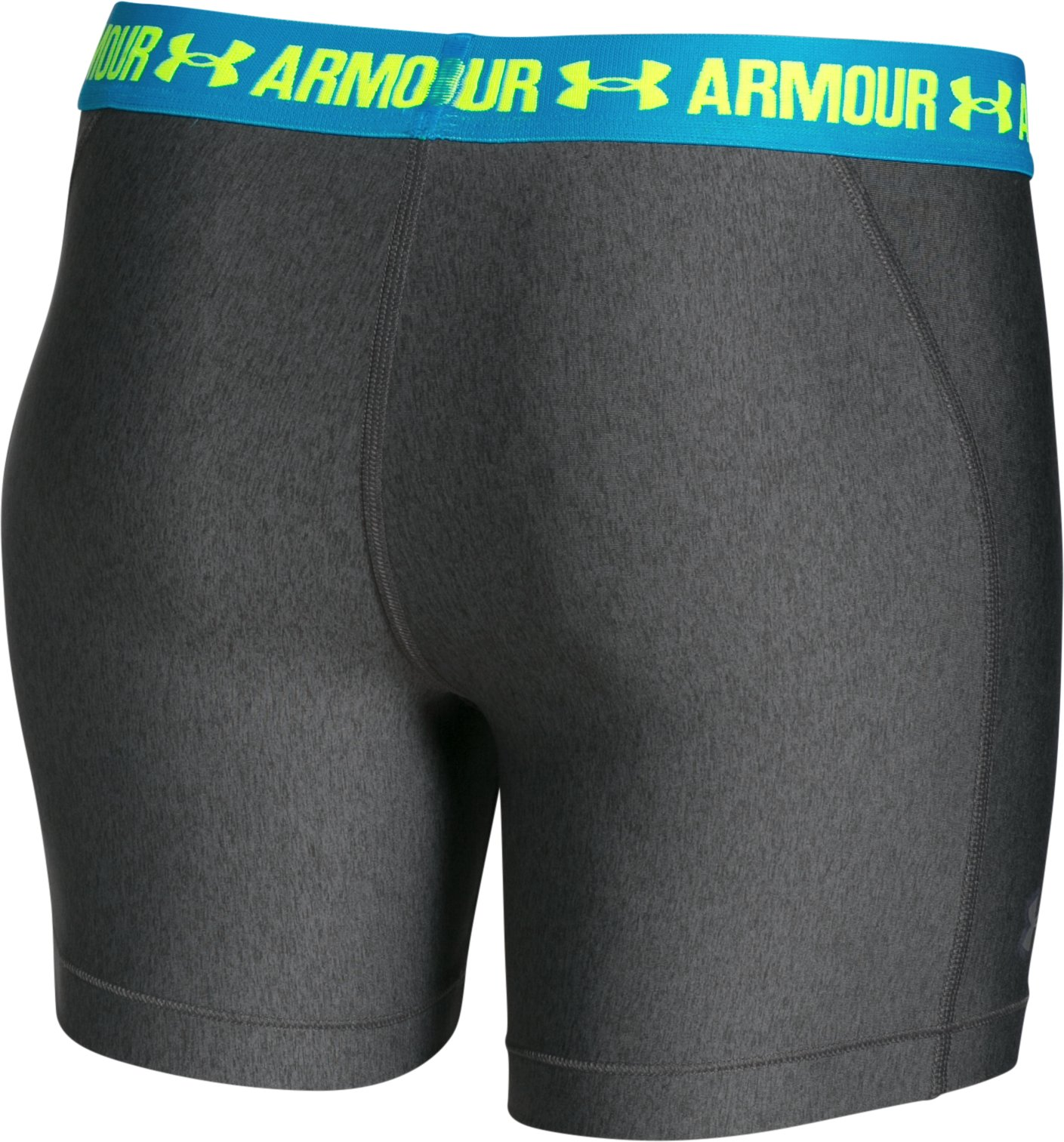 "Women's UA HeatGear® Armour 5"" Mid, Carbon Heather"