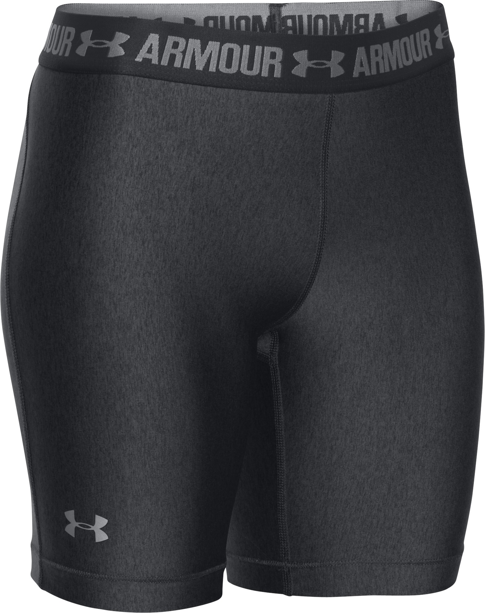 "Women's UA HeatGear® Armour 7"" Long, Carbon Heather"
