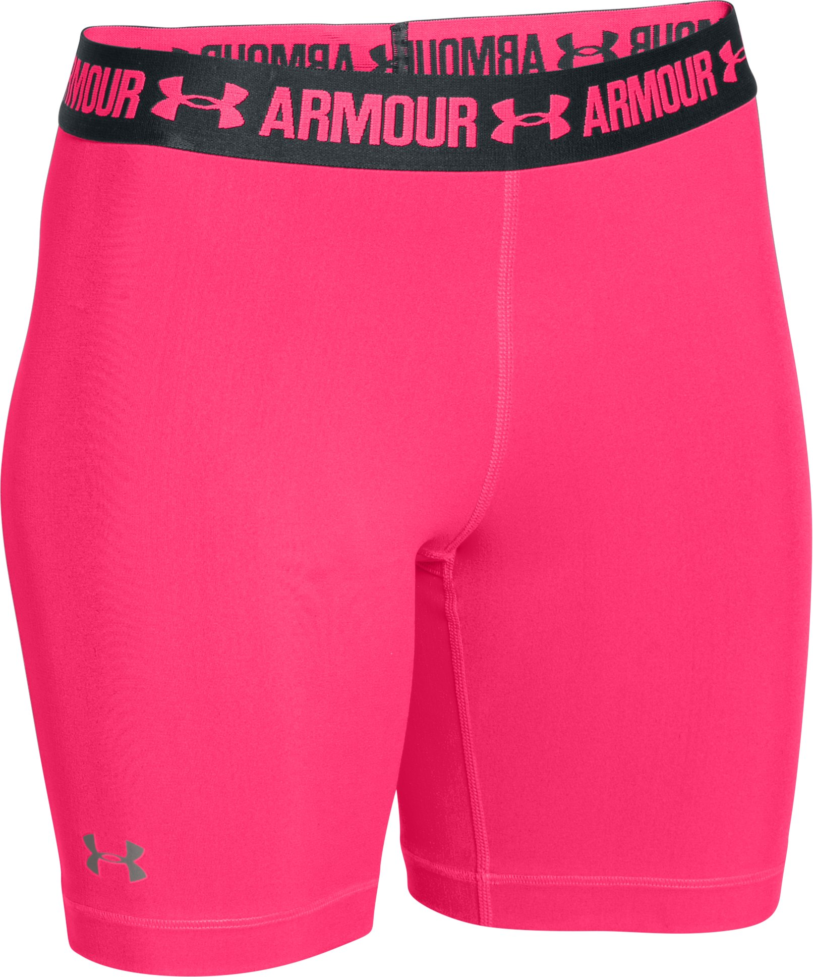 "Women's UA HeatGear® Armour 7"" Long, HARMONY RED,"