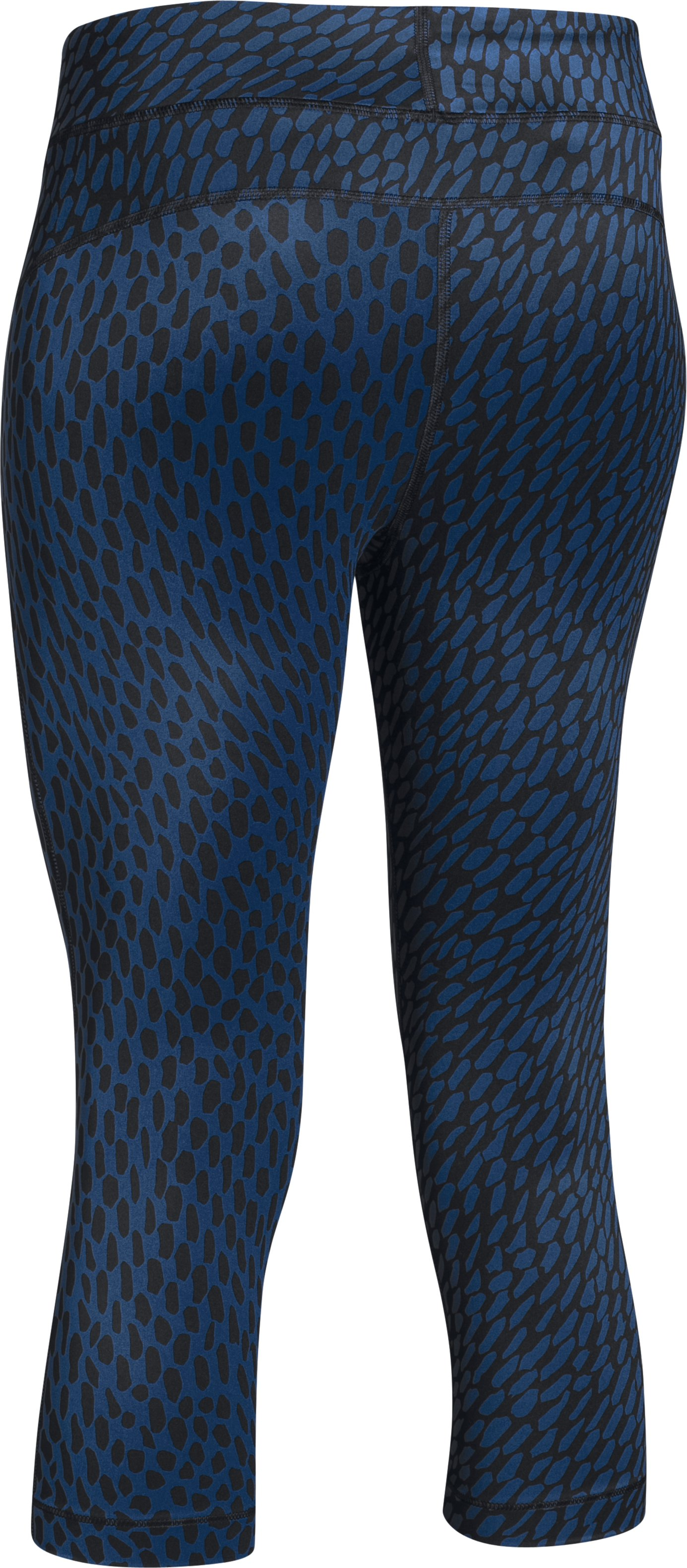 "Women's UA HeatGear® Armour Printed 18"" Capri, COBALT"