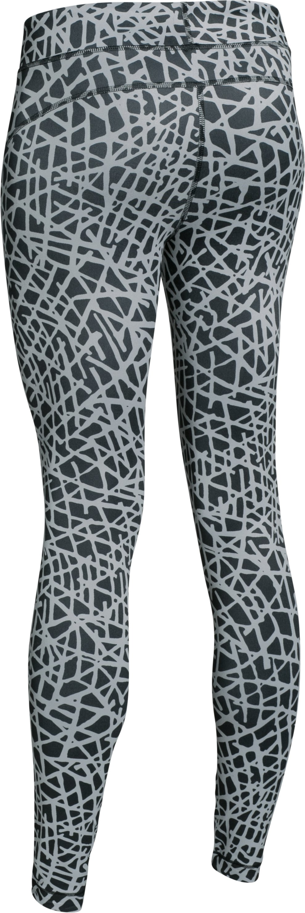 Women's UA HeatGear® Armour Printed , Black ,