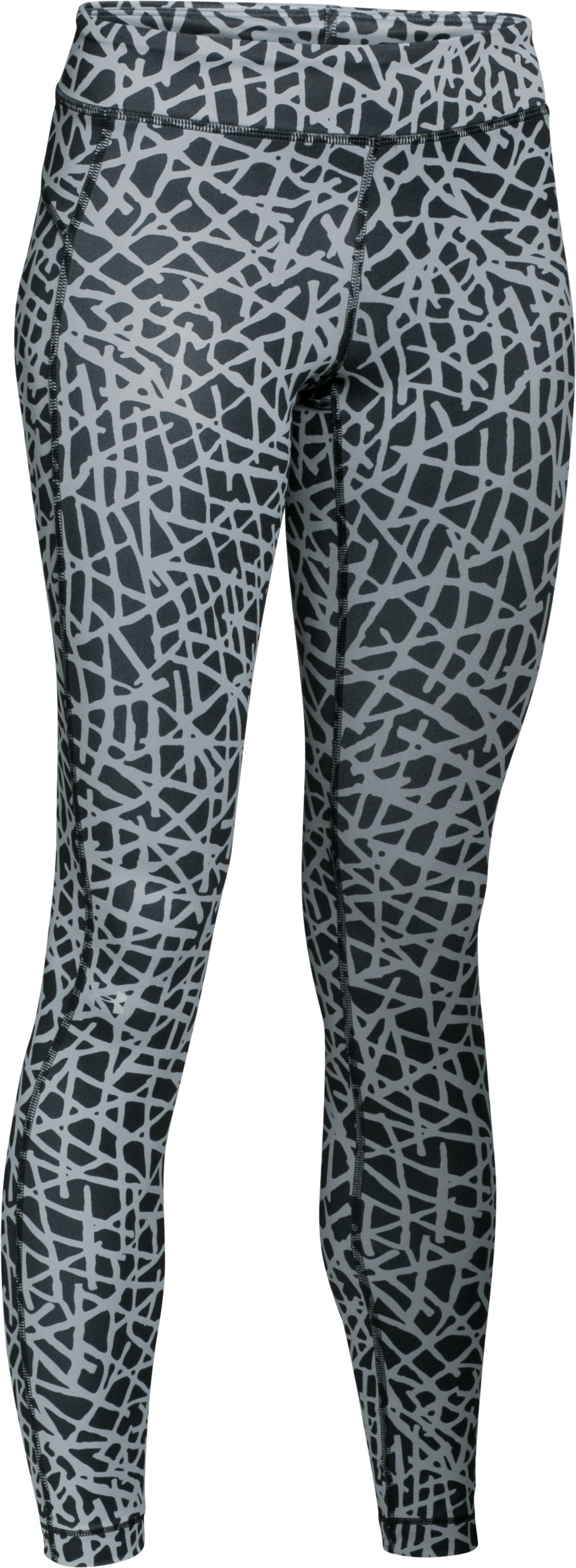 Women's UA HeatGear® Armour Printed , Black , undefined