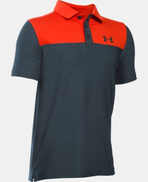 Boys' UA Match Play Blocked Polo  2 Colors $34.99