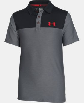 Boys' UA Match Play Blocked Polo LIMITED TIME: FREE SHIPPING 1 Color $39.99