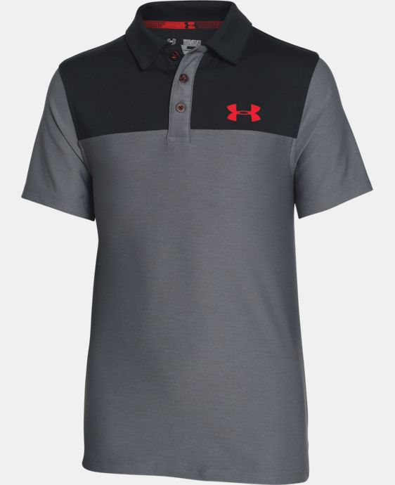 New Arrival  Boys' UA Match Play Blocked Polo  1 Color $39.99
