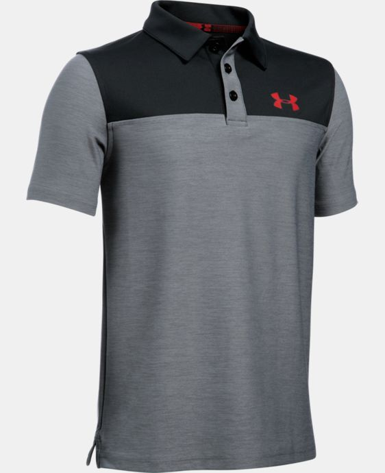 Boys' UA Match Play Blocked Polo  LIMITED TIME: FREE U.S. SHIPPING 1 Color $34.99