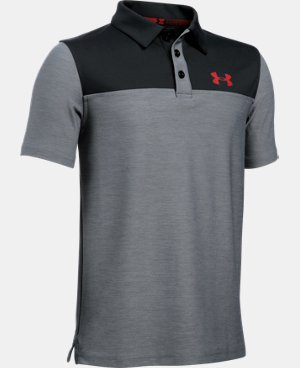 Boys' UA Match Play Blocked Polo  LIMITED TIME: FREE U.S. SHIPPING 2 Colors $34.99