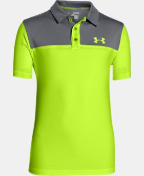 New Arrival  Boys' UA Match Play Blocked Polo  LIMITED TIME: FREE SHIPPING 1 Color $39.99