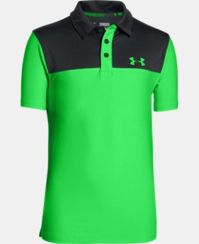 Boys' UA Match Play Blocked Polo  3 Colors $26.99