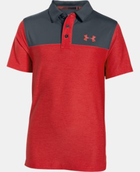 Boys' UA Match Play Blocked Polo LIMITED TIME: FREE SHIPPING  $39.99