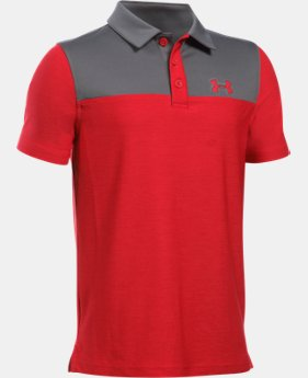 Boys' UA Match Play Blocked Polo  LIMITED TIME: FREE U.S. SHIPPING  $34.99