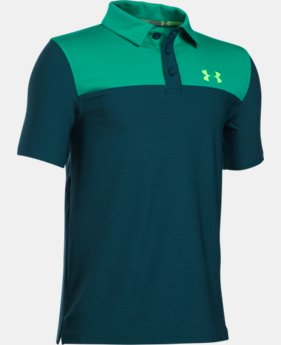 Boys' UA Match Play Blocked Polo   4 Colors $29.99